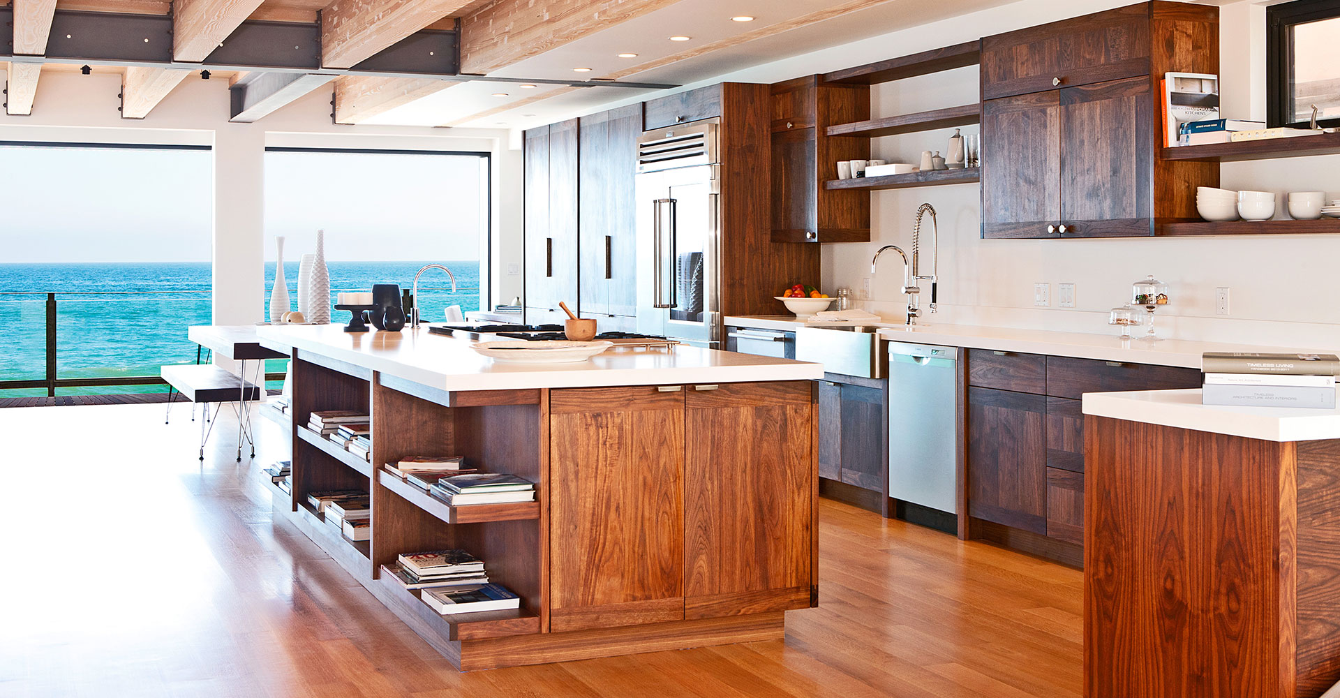 Los Angeles Custom Cabinetry with Ocean View