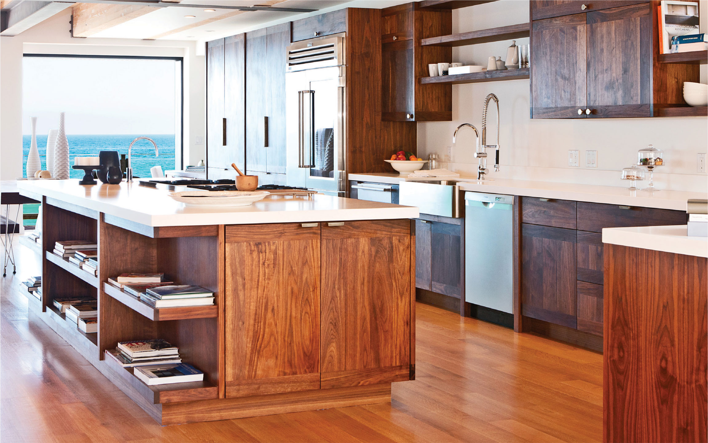 Custom Kitchen with Ocean View