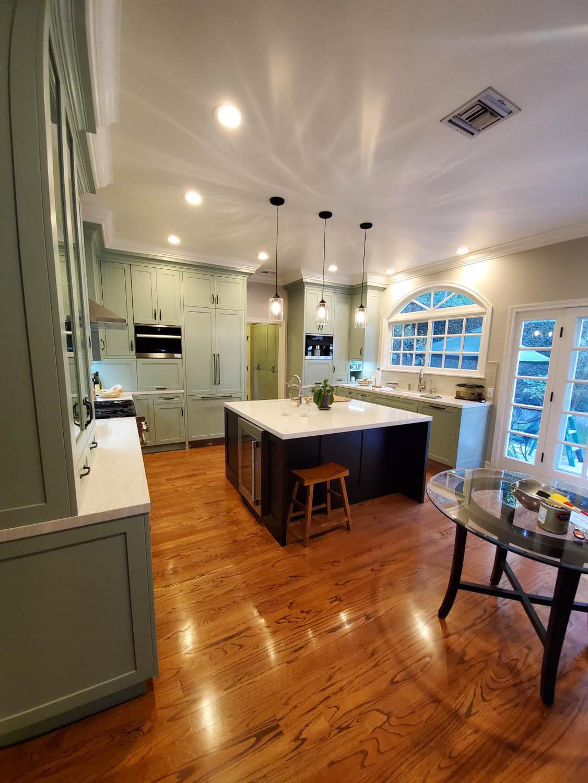 Fitucci Custom Cabinets - Diagonal photo of kitchen island